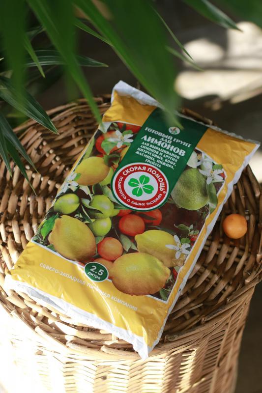 Грунт для лимонов, цитрусовых, кофе