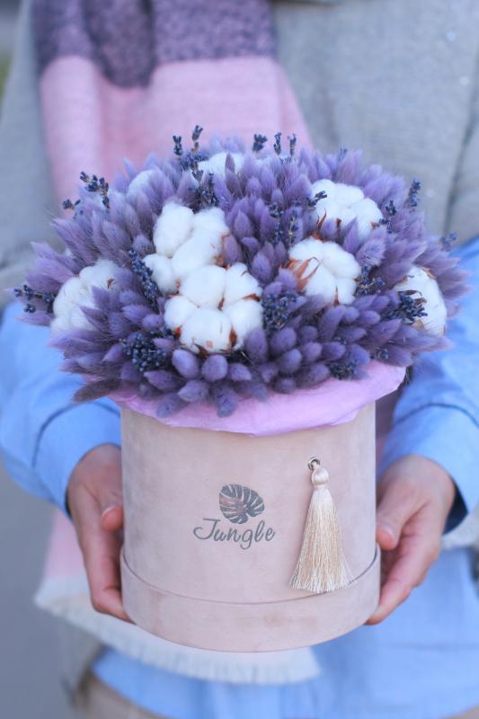 Коробка с сухоцветами Х013