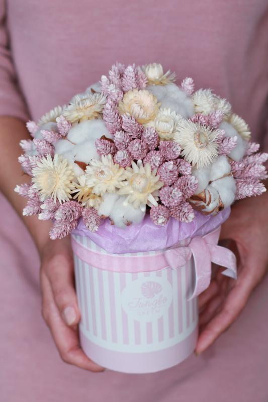 Коробка с сухоцветами Х015
