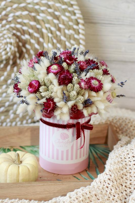Коробка с сухоцветами Х016