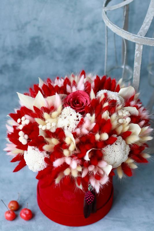 Коробка с сухоцветами Х017