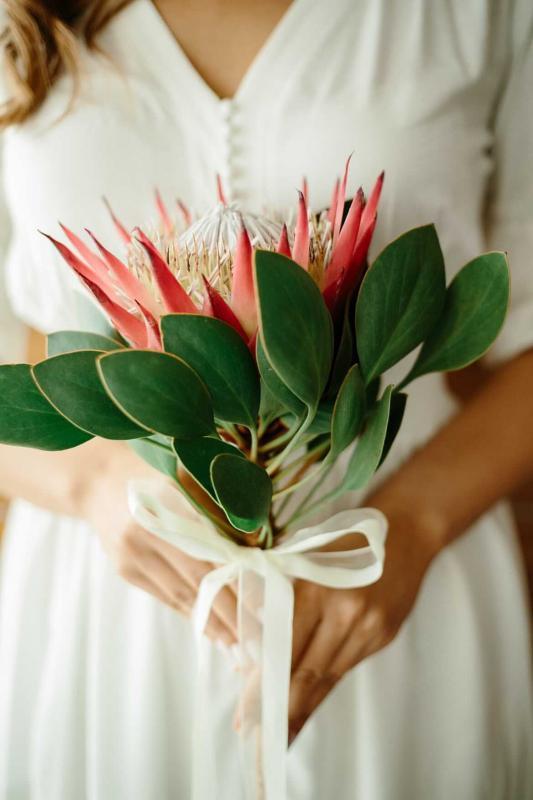 Букет невесты 14  из Протеи