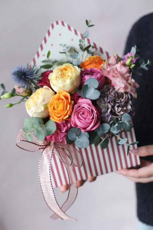 Конверт с цветами С0145
