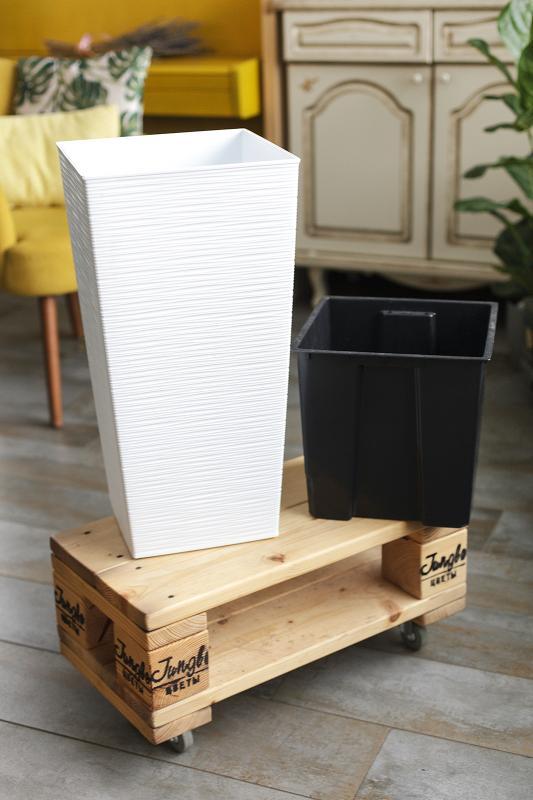 Кашпо пластиковое Lamela квадратное 27 см