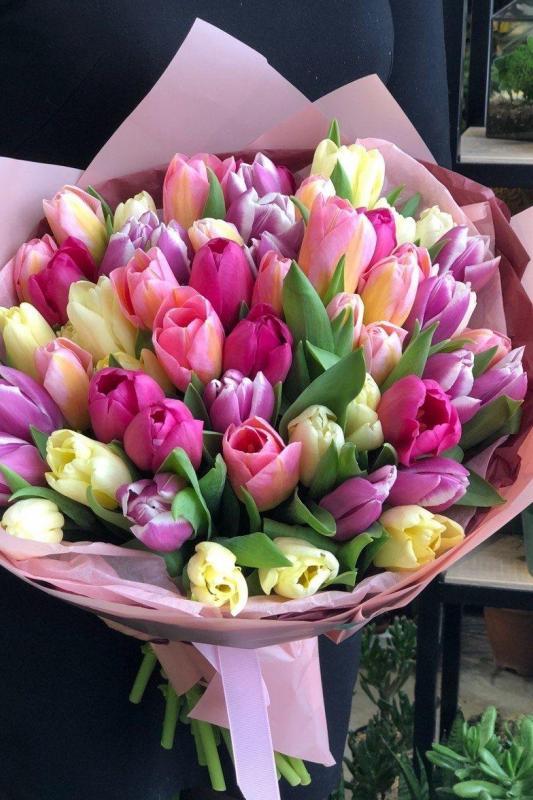 Монобукет из тюльпанов А0084