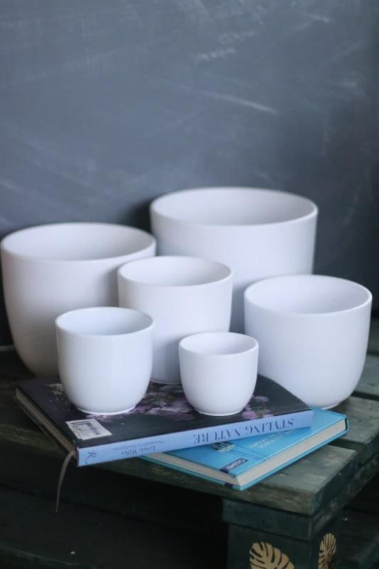 Кашпо для растений Tusca white matt 144255