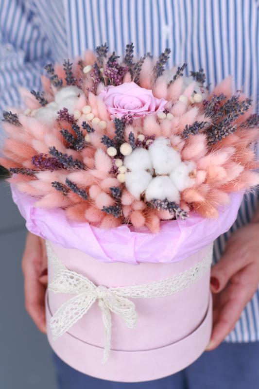 Коробка с сухоцветами Х001