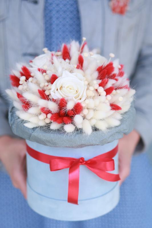 Коробка с сухоцветами Х003
